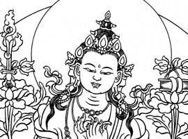Parting from the Four Attachments, by Manjushri and Sachen Kunga Nyingpo